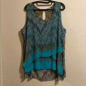 Flowy sleeveless top Size 1X